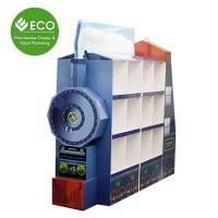 厂家直销专业定制 创意货品纸堆头 陈列架纸板展示架