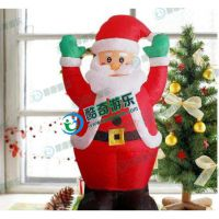 房地产楼盘装饰爬墙充气圣诞老人气模