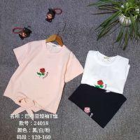 福建巴布豆儿童服装批发市场女童短袖t恤