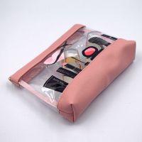 便携透明pvc化妆包 定制拉链立体防水多功能旅行收纳包洗漱化妆袋
