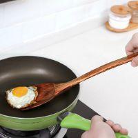 木铲不粘锅专用炒菜饭铲厨房用品木质长柄无漆实木煎铲子厨具锅铲
