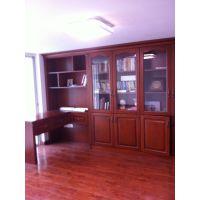 晋江实木书柜定做,原木书柜架,玻璃柜门。原木阻燃柜,防火柜