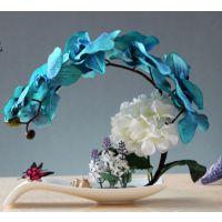 蝴蝶兰假花盆栽欧式仿真花艺套装家居客厅装饰花玄关餐桌盆景摆件
