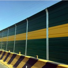 揭阳高速公路组合型透明弧形声屏障批发 空调机组水泥木屑隔音屏障