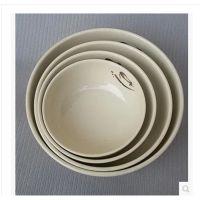 正品密胺仿瓷树脂汤碗日韩式料理餐具用品酒店面碗3355塑料
