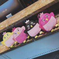 儿童卡通书包大小班幼儿园男女童背包小企鹅可爱韩版书包厂