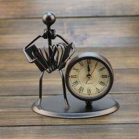 创意铁质不锈钢小座钟 铁艺复古个性钟表 精品店礼品 生日礼物