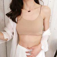 无钢圈性感裹胸式聚拢美背内衣套装女交叉细带后背防走光抹胸文胸