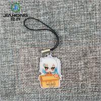 厂家定做日本钥匙扣 动漫卡通印刷贴纸滴胶钥匙挂件 小女孩锁匙扣