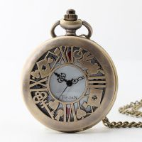 欧美新款爱丽丝梦游仙境系列翻盖大号花朵钥匙兔子宫廷复古怀表