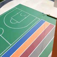 柳州PVC地板胶篮球场_柳州地板胶篮球场,广西三杰体育,厂家直销