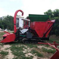 新款履带式稻草秸秆收割粉碎机 皇竹草收获机 大型玉米青储机