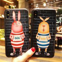 卡通越狱兔iPhone8手机壳OPPOR11保护套苹果6Plus全包i7软壳