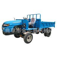 工程双液压自卸车3吨高效农用四轮车 25马力多功能建筑工地四不像