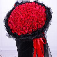 99朵红玫瑰花束情人节同城生日花店配送杭州七夕鲜花速递全国送花