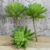 小号绿色佛手莲花多肉 创意家居小植物拍摄道具阳台迷你盆栽饰品