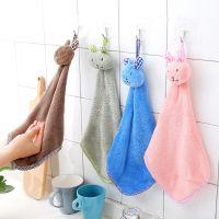 1485可爱小兔加厚可挂式珊瑚绒吸水擦手巾 厨房抹布清洁巾