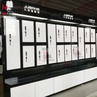 广州指纹锁展示柜生产厂家指纹锁柜台电子锁展示架智能锁展柜木质烤漆指纹锁柜台智能锁柜