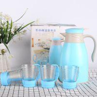 新款大肚保温水壶五件套 暖瓶热水瓶促销礼品暖壶开水瓶玻璃内胆