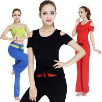 思朵 瑜伽服套装女夏季新款瑜珈服显瘦健身舞蹈愈加服三件套秋冬