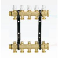 德国曼瑞德 地热地暖分水器 大流量家用全铜加厚暖气片分集水器