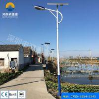 河北张家口鸿泰6米新农村太阳能路灯 50W锂电池节能光控 太阳能路灯厂家