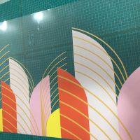 深圳玻璃双面彩uv超透膜打印广告定制彩白彩办公室磨砂玻璃贴膜静电贴