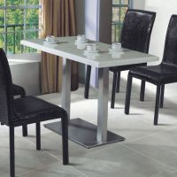 白色欧式餐桌,肯德基餐桌椅组合,众美德餐厅家具定做,价格优惠