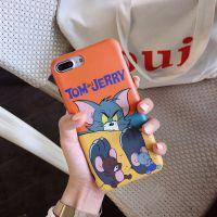 猫和老鼠佛系少女iphoneX手机壳创意文艺风苹果8手机保护套新款