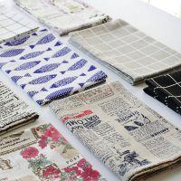 包邮 青花瓷棉麻桌布餐巾 多用盖巾餐布牛排西餐垫 拍照背景布