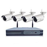 4 8路wifi网络高清家用一体机监控器摄像头套餐无线监控设备套装