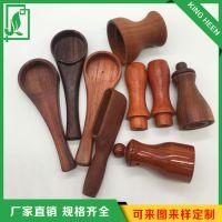 厂家直销美容养生刮痧把手配件 红花梨木 养生仪器配件可加工定制