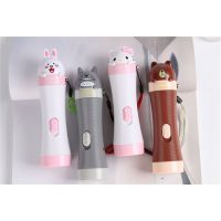K * T可爱手电筒 KT猫两档LED充电手电筒 卡通夜间照明电筒