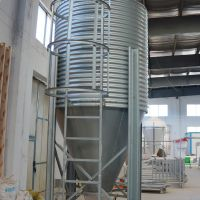养殖场设备散装饲料塔镀锌板料塔室外用散装饲料贮料塔不怕高温