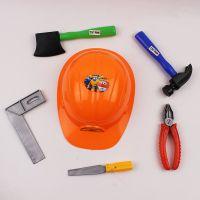 儿童过家家维修工具工程玩具套装带安全帽9988-4
