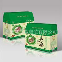 定做包装盒彩盒印刷 三层瓦楞纸厂家货源长山药梯形手提礼盒