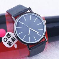 黑带黑表盘经典洁简中性表 休闲时尚学生中性手表 百搭饰品表
