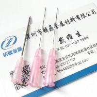 厂家加工304不锈钢毛细管医疗用穿刺针管磨尖开槽切断封头定制