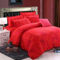 2018春夏新款磨毛四件套 家纺保暖床单被套床上用品红玫瑰四件套