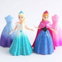 冰雪奇缘 创意安娜艾莎公主换装公主娃娃儿童女孩玩具摆件