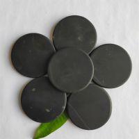 供应德仁牌50床垫坐垫用黑色砭石片 50mm砭石圆片