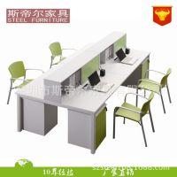 深圳办公家具厂四人位屏风卡位办公4人组合职员工作电脑台可定做