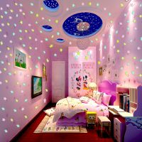 温馨可爱夜光星星墙贴纸装饰品墙上贴画卧室墙纸自粘女孩房间墙画