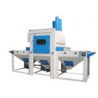 电熨斗底板专用输送式自动喷砂机