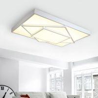 华士照明现代简约LED吸顶灯北欧创意长方形客厅餐厅几何个性卧室灯具灯饰