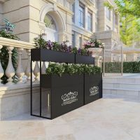 新款式欧式铁艺花箱花架金属户外铁质花槽做道路隔断