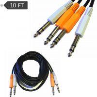 6.35大三芯6.5公对公平衡话筒线音频麦克风调音台 6.35双声道3米