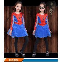万圣节女童蜘蛛侠演出服表演服装cosplay儿童蜘蛛侠服装