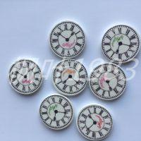 25mm手表扣子  圆形时间饰品扣材料 服装配件 diy辅料 厂家批发