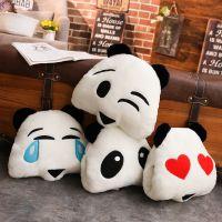 厂家直销可爱卡通熊猫表情暖手捂毛绒玩具学生午睡趴枕一件代发